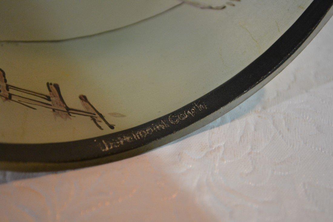 284: SIGNED PAIRPOINT COACHING SCENE BOUDOIR LAMP - 8