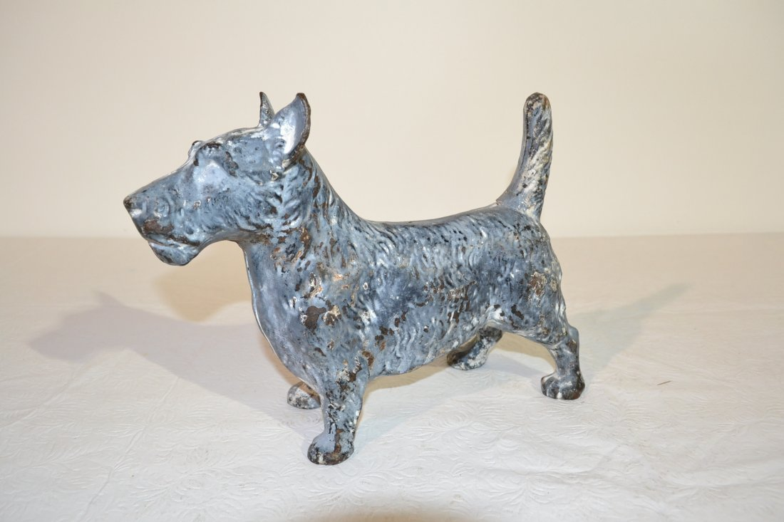 212: CAST IRON FULL BODIED SCOTTY DOG DOOR STOP -