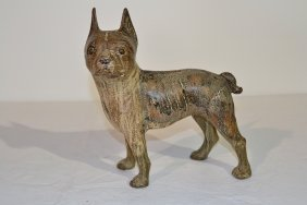 CAST IRON FULL BODIED BOSTON TERRIER DOOR STOP