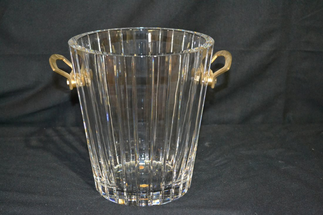 285: BACCARAT CRYSTAL CHAMPAGNE BUCKET WITH DORE