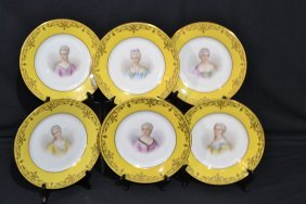 273: (6) MID 19thC SEVRES CHATEAU TUILERIES ARTIST