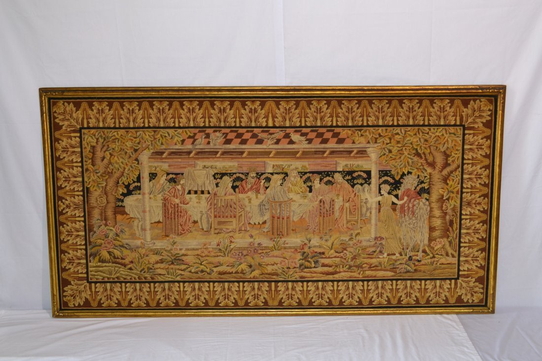 301: 19thC-20thC NEEDLE & PETTIPOINT LAST SUPPER OF