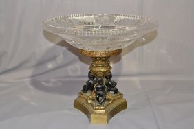 2-TONE FRENCH BRONZE PUTTI CENTERPIECE