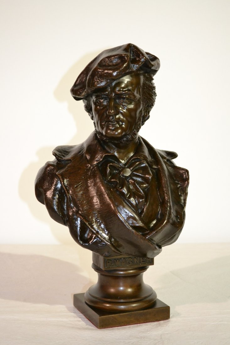 300: BRONZE BUST OF MAN SIGNED WAGNER WITH