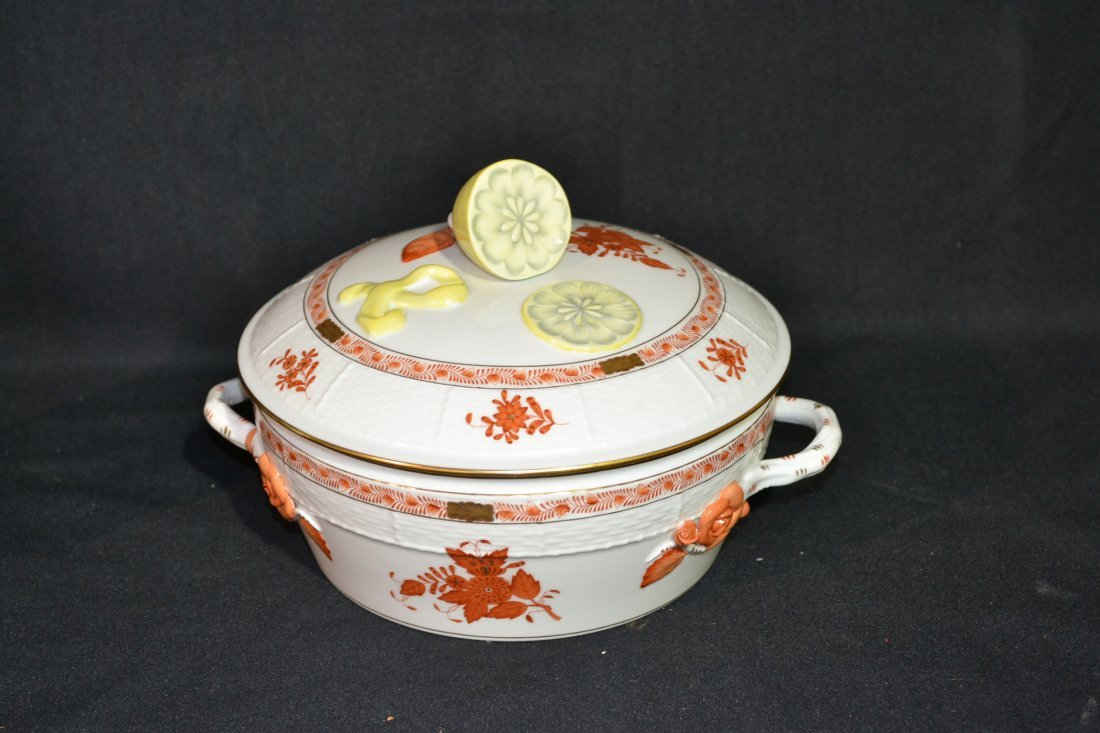 206: HEREND TWIN HANDLE COVERED TUREEN