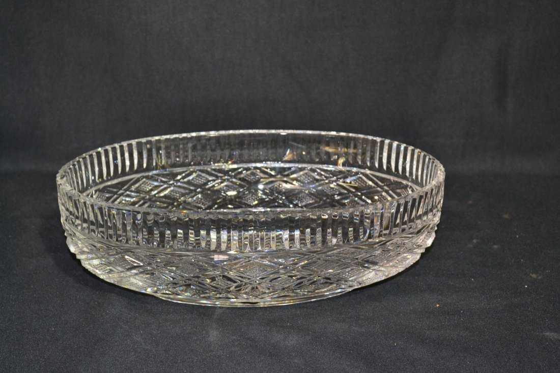 """210: OVAL WATERFORD CRYSTAL BOWL - 12"""" x 7 1/4"""" x 3 3/4"""