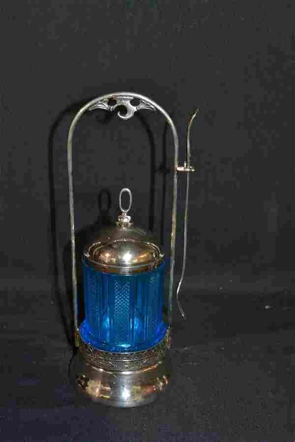 AURORA TRIPLE PLATE PICKLE CASTOR WITH BLUE