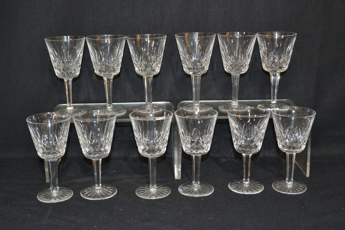 200: SET OF (12) WATERFORD WINE GLASSES - 6""