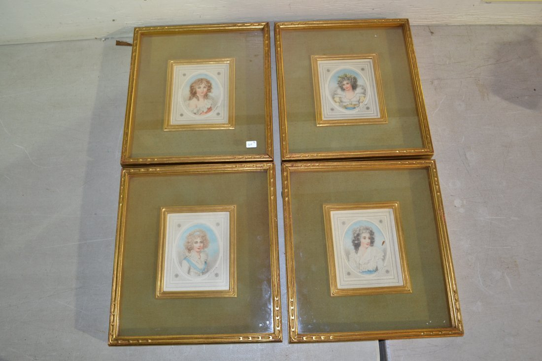 215A: SET OF (4) HAND COLORED ENGRAVINGS BY L.DUPONT