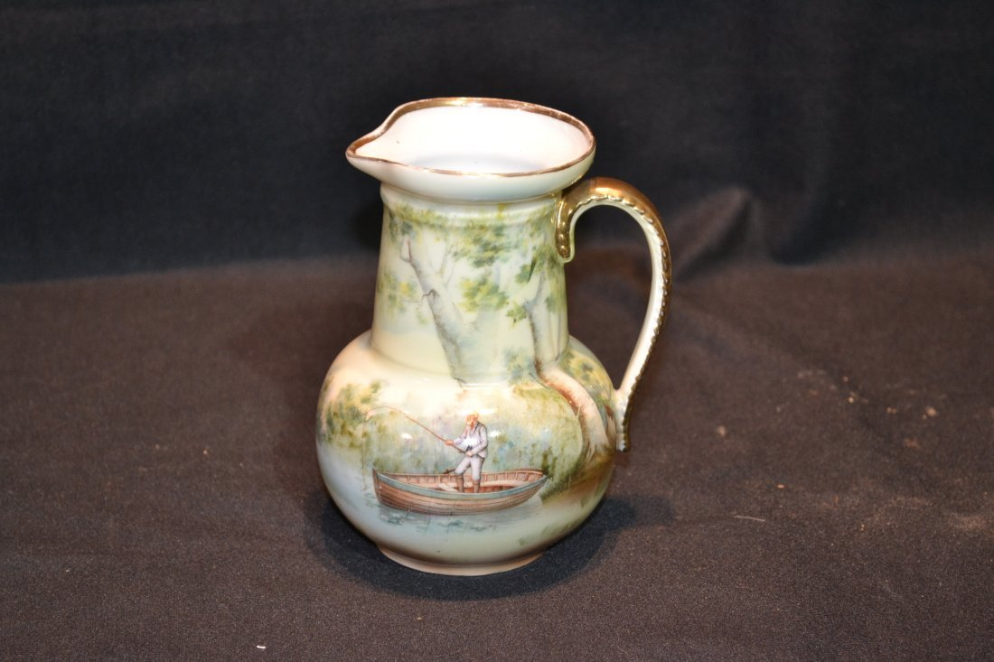 210: HAND PAINTED ROTAL BAYRUETH PITCHER WITH
