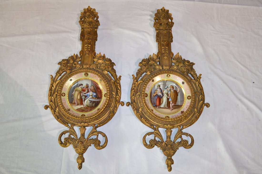 301: (Pr) ROYAL VIENNA HAND PAINTED CHARGERS WITH