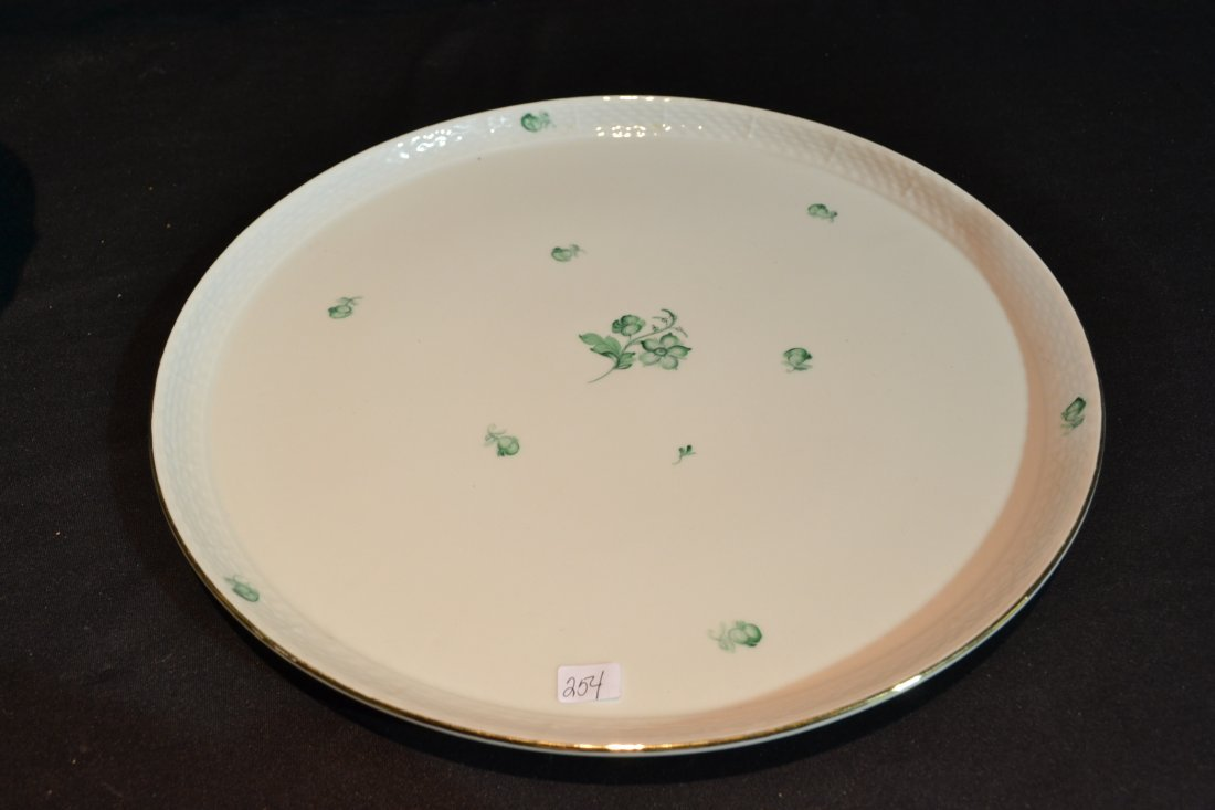 """211: ROUND HEREND TRAY - 14 1/4"""" D"""