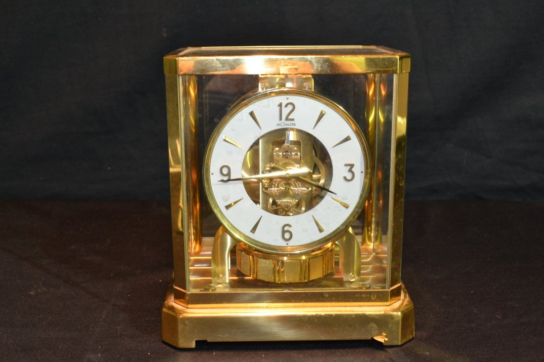 297: LeCOULTRE ATMOS CLOCK WITH CERTIFICATE