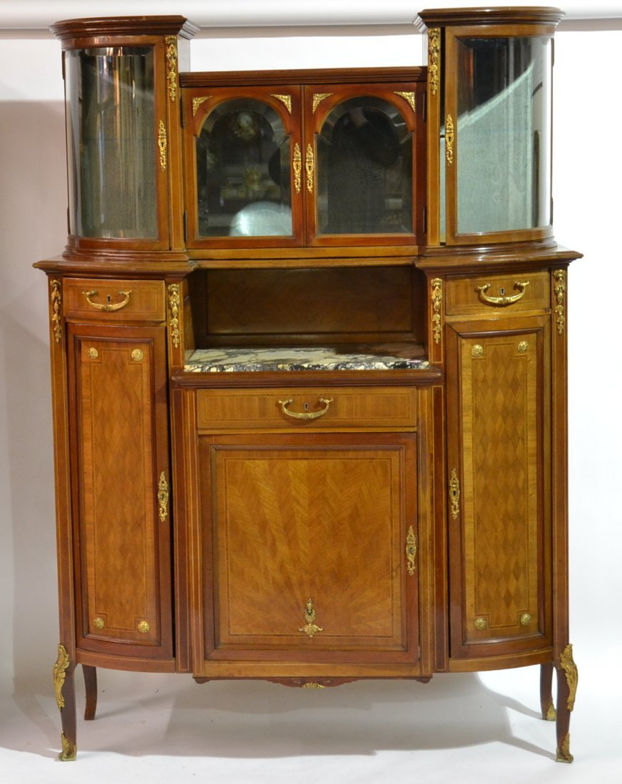 ONE OF MATCHED PAIR OF FRENCH CURIO TOP