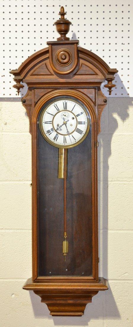 WALNUT GILBERT CLOCK Co. WALL REGULATOR