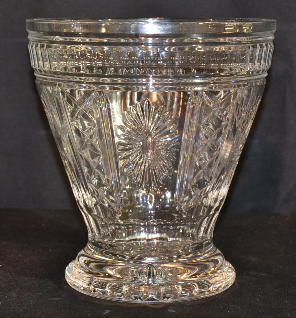 LARGE WATERFORD CRYSTAL VASE WITH BOWS