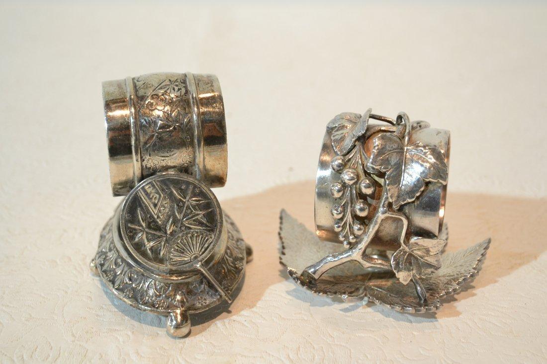 MERIDIAN & STANDARD SILVER PLATE NAPKIN RINGS