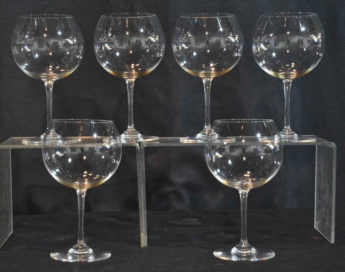 """(6) BACCARAT CRYSTAL WINE GLASSES - 7 3/4"""" TALL"""