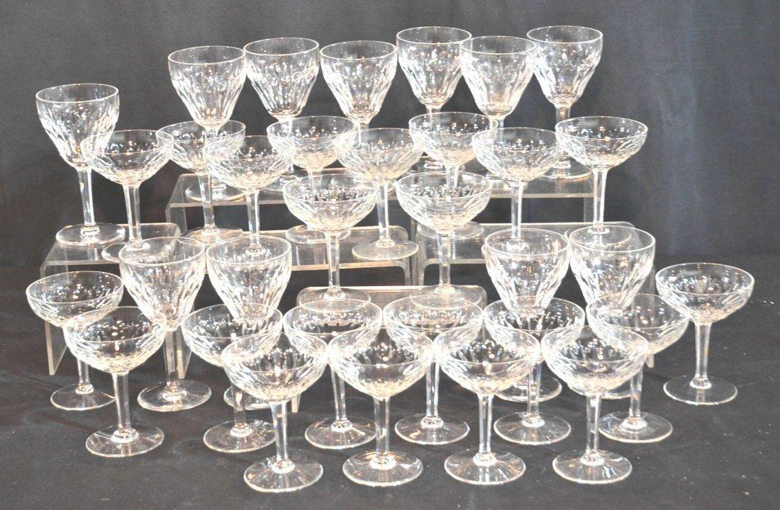 (33)pc VAL ST. LAMBERT CUT GLASS STEMWARE -