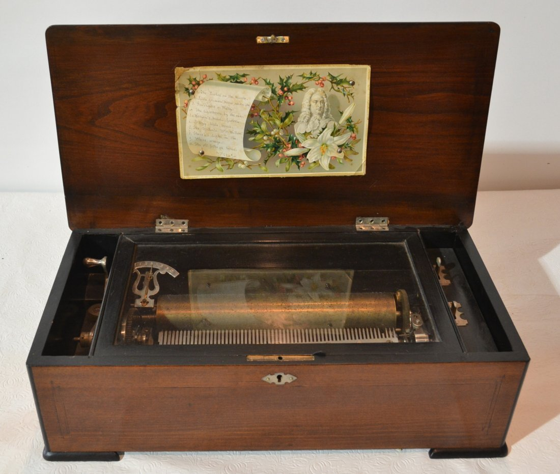 10 TUNE SWISS MUSIC BOX WITH INLAID CASE
