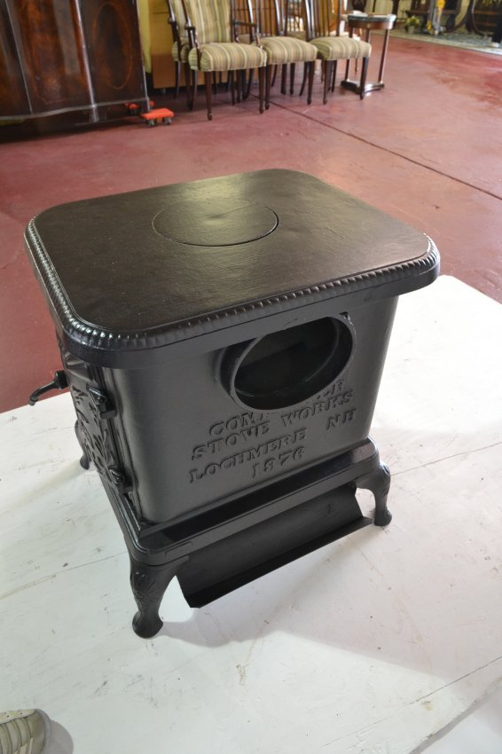 Cast Iron Wood Burning Stove With Flying Duck Lot 223