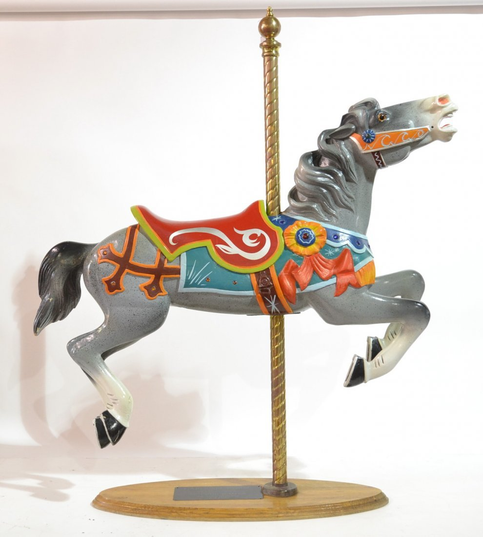 1920's WOOD OUTSIDE JUMPER CAROUSEL HORSE