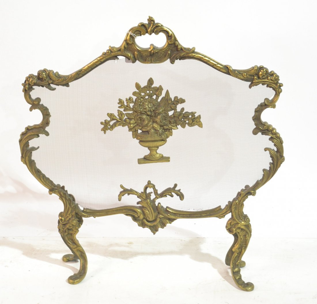"FRENCH BRONZE FIRESCREEN - 17"" x 16"""
