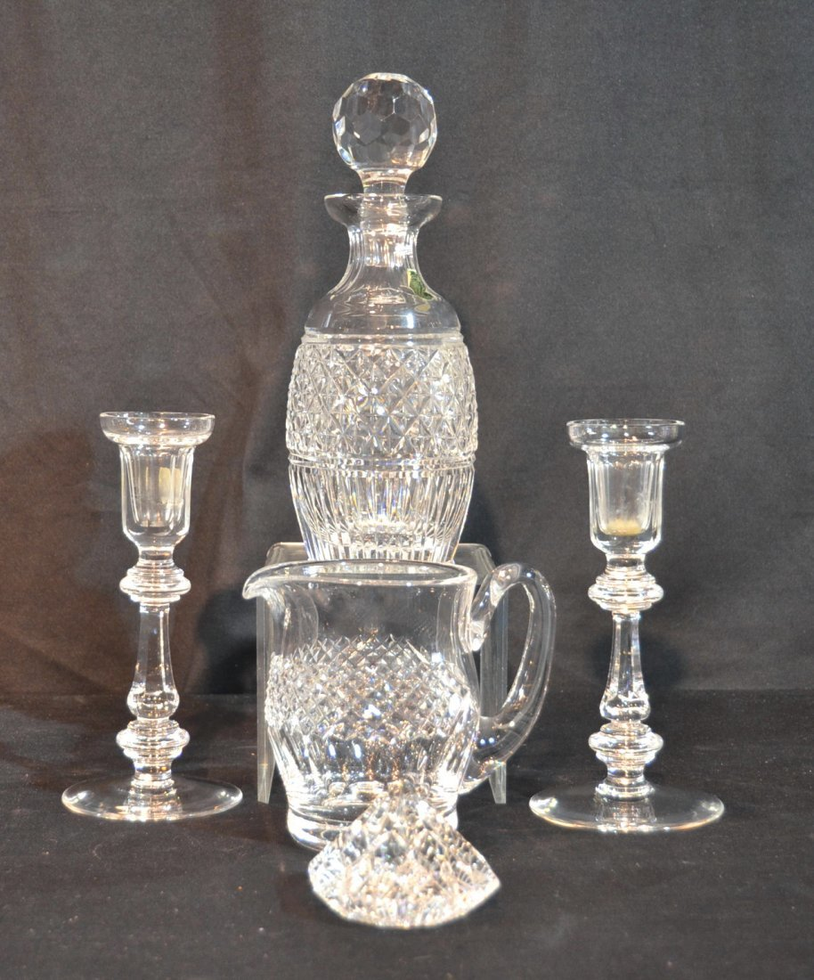 WATERFORD LOT INCLUDING - DECANTER , PITCHER ,