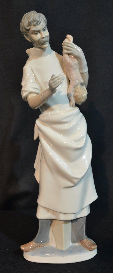 """LLADRO OBSTETRICIAN WITH NEW BORN BABY - 14"""" TALL"""