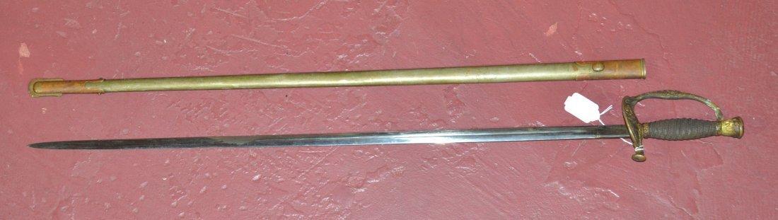 "1906 CAVALRY SWORD & SHEATH - 37"" LONG"