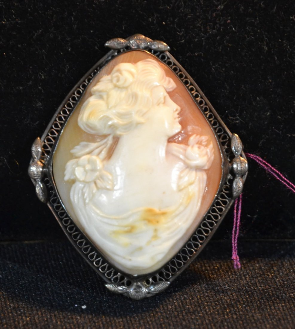 STERLING SILVER CAMEO