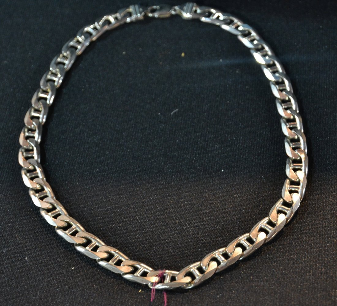 """HEAVY STERLING SILVER CHAIN - 21"""" LONG & 4.5ozt"""