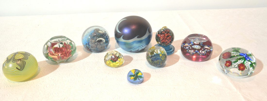 (10) ASSORTED PAPERWEIGHTS INC- PAIRPOINT ,