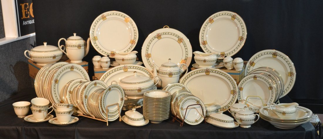 "MIKASA ""ROSE POINT"" DINNER SERVICE"