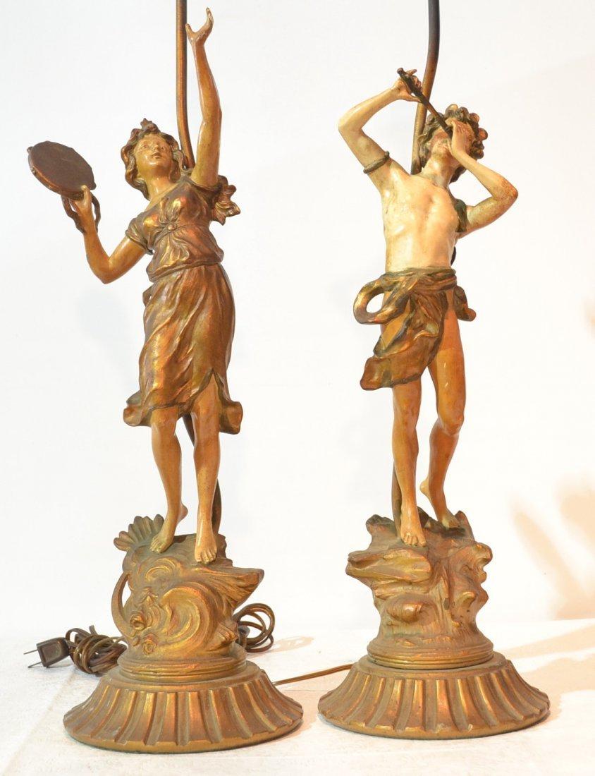 (Pr) FIGURAL MOREAU LAMPS