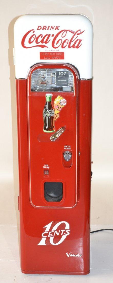 VENDO 44 10 CENT COKE MACHINE - PROFESSIONALLY