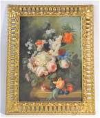 LARGE FLORAL OIL ON CANVAS SIGNED GGIOVANNI