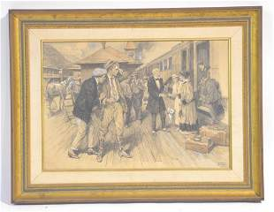 SIGNED ARTHUR BEECHER CARLES ILLUSTRATION OF