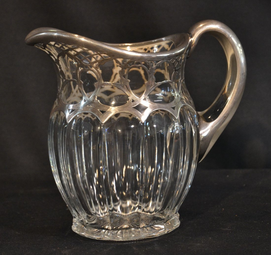 STERLING OVERLAY HEISSEY PITCHER