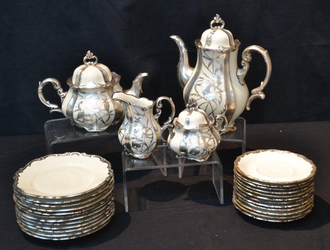 BAVARIAN SILVER OVERLAY TEA & COFFEE SERVICE
