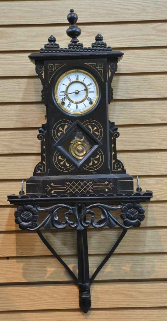 8-DAY PORTSMOUTH EASTLAKE VICTORIAN CLOCK BY