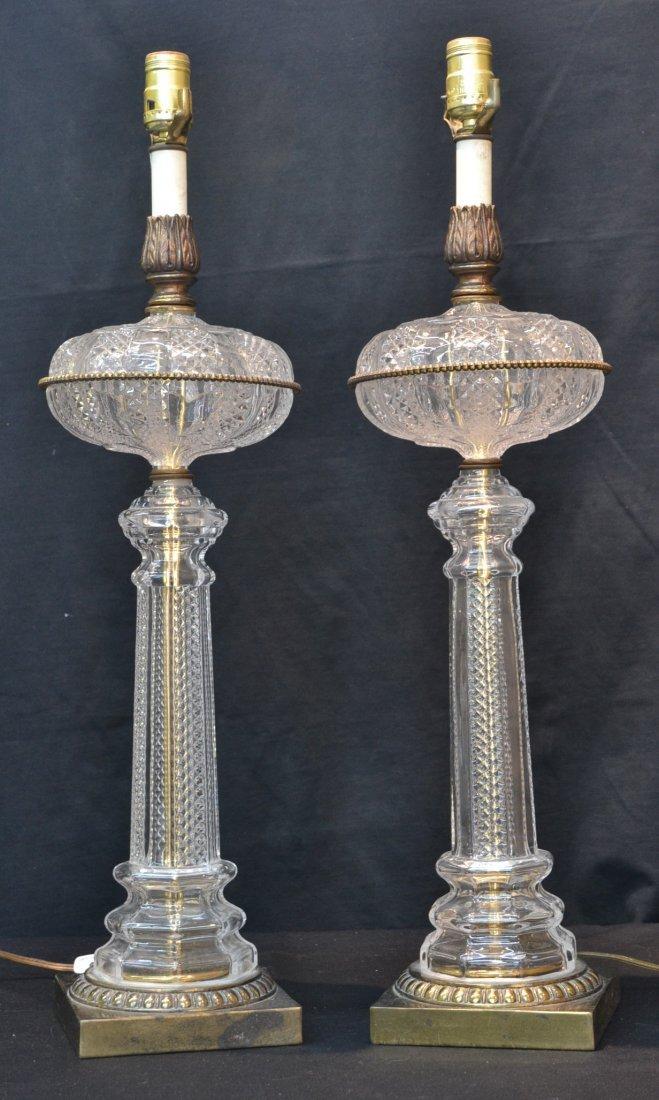 "(Pr) CRYSTAL COLUMN LAMPS - 24"""