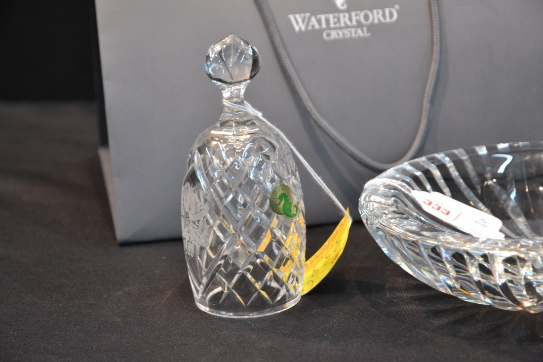 WATERFORD BELL, SHAMROCK PAPERWEIGHT & ASHTRAY - 3