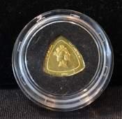 1996 BERMUDA TRIANGLE GOLD COIN