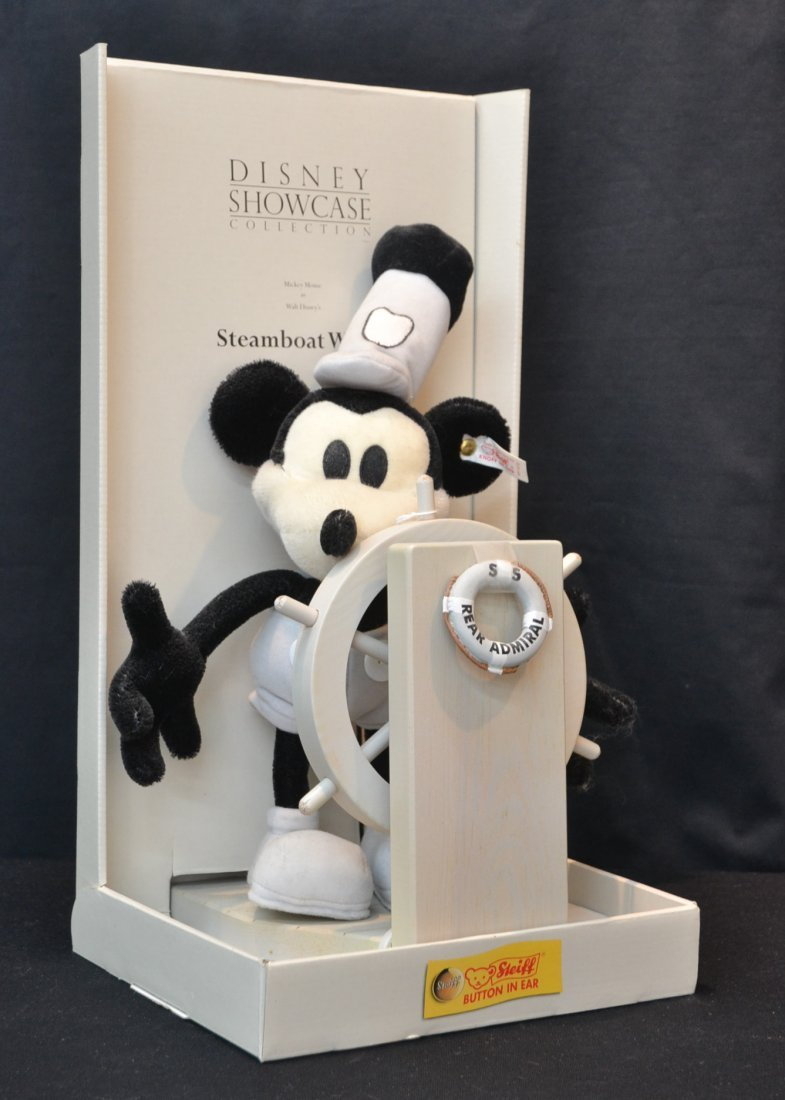 STEIFF MICKEY MOUSE AS STEAMBOAT WILLIE WITH