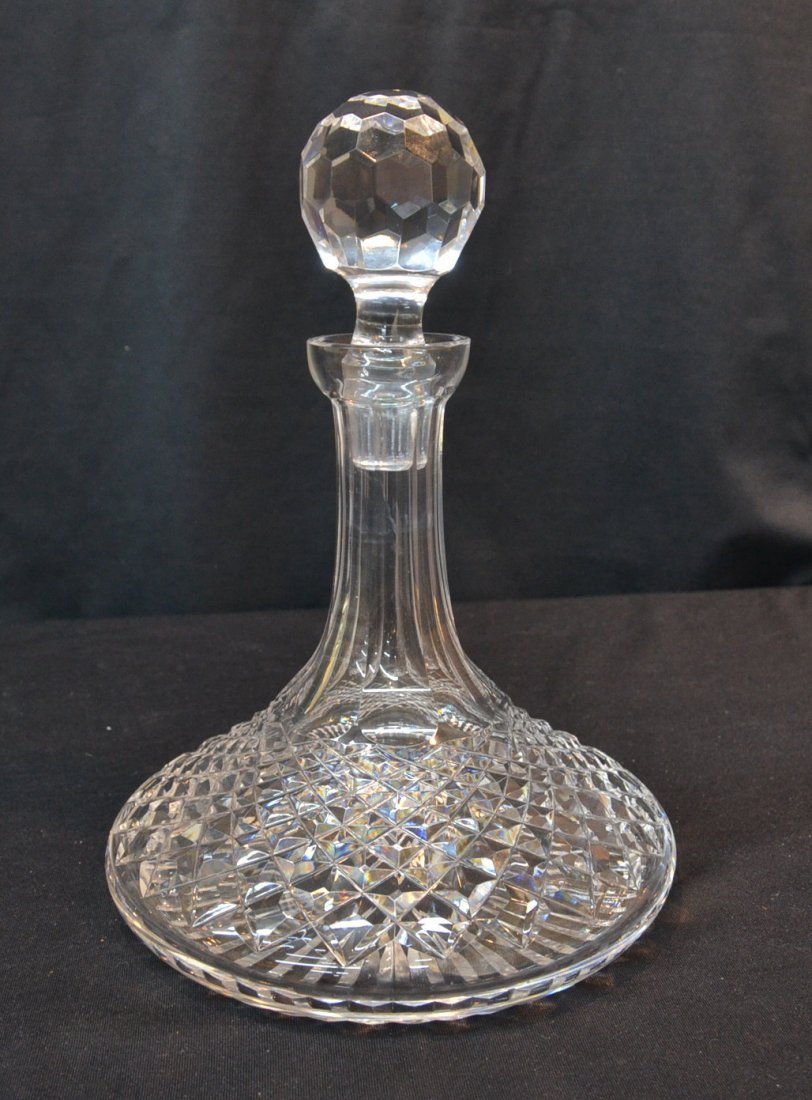 """WATERFORD """"ALANA"""" SHIPS DECANTER - 11"""" TALL"""