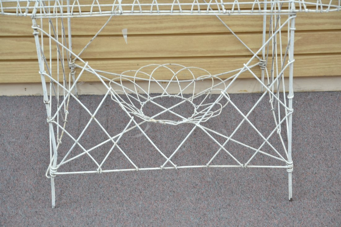 """3-TIER FRENCH WIRE PLANT STAND - 36"""" x 25"""" x 42"""" - 2"""