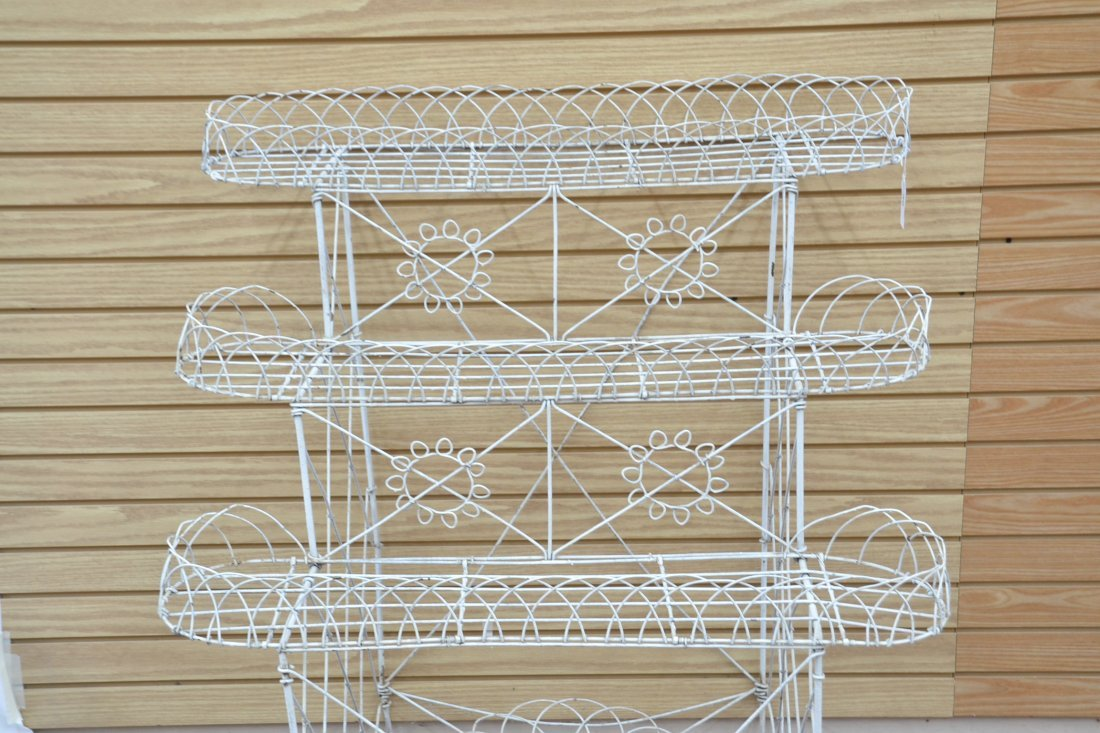 """3-TIER FRENCH WIRE PLANT STAND - 36"""" x 25"""" x 42"""" - 4"""