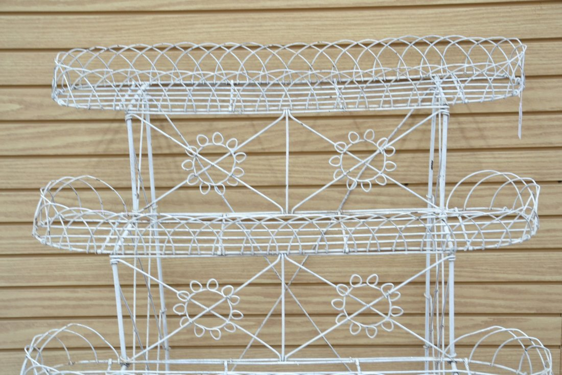 """3-TIER FRENCH WIRE PLANT STAND - 36"""" x 25"""" x 42"""" - 5"""