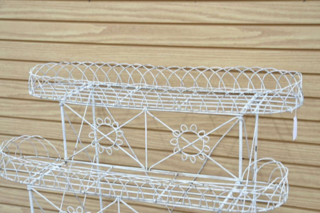 """3-TIER FRENCH WIRE PLANT STAND - 36"""" x 25"""" x 42"""" - 6"""